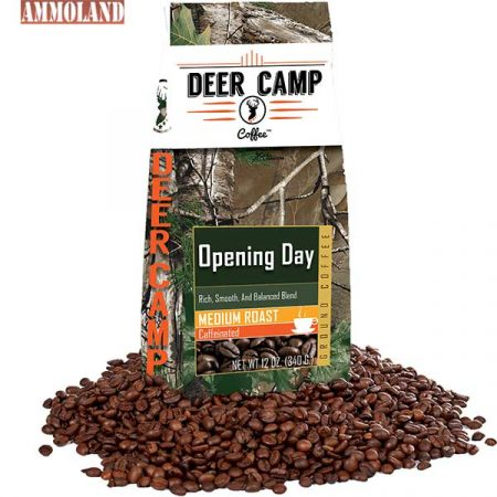 """Deer Camp Coffee """"Opening Day""""by Buck Baitsmakes morning in hunt camp or at home just that much more special."""